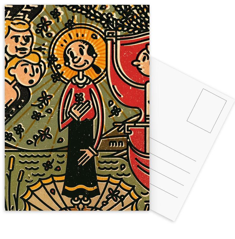 , Olive Postcard Set