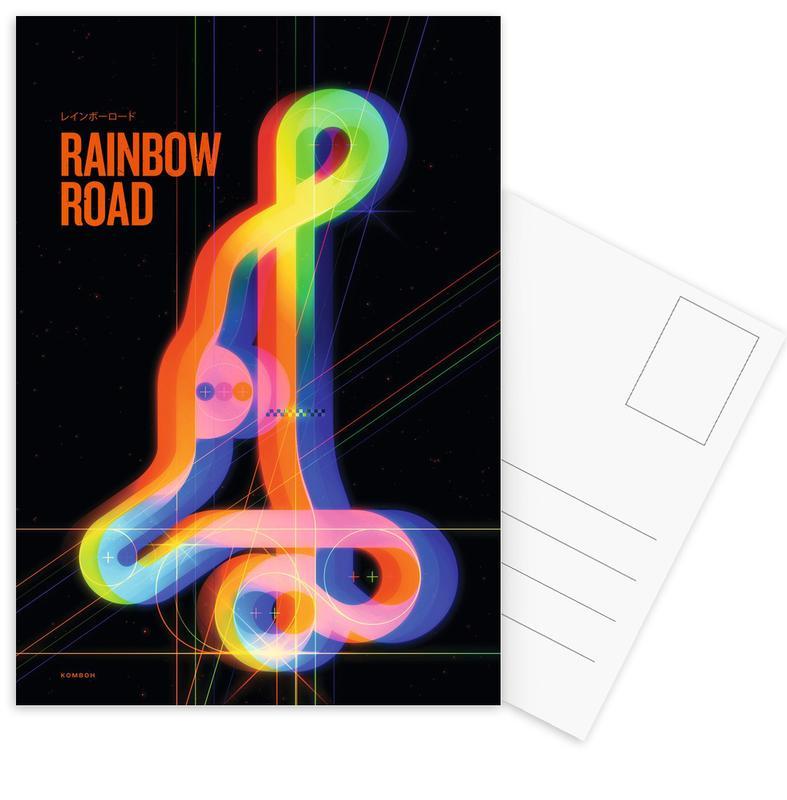 , Rainbow Road Postcard Set