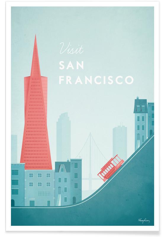 Vintage San Francisco Travel Plakat