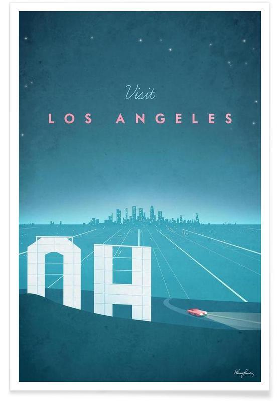 Vintage Travel, Vintage Los Angeles Travel Poster