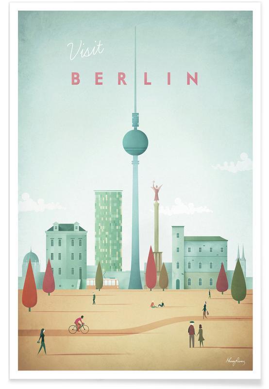 Vintage rejser, Vintage Berlin Travel Plakat