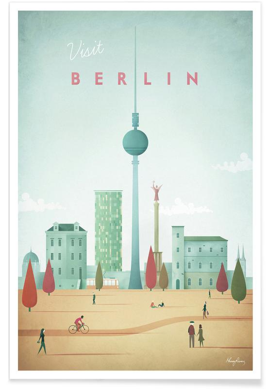 Vintage Berlin Travel póster