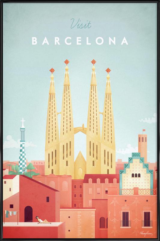 Barcelona Poster i standardram