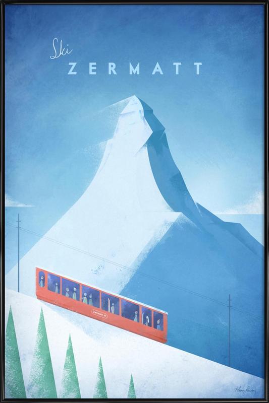 Zermatt ingelijste poster