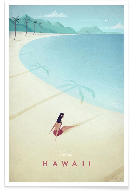 Hawaï vintage - Voyage affiche
