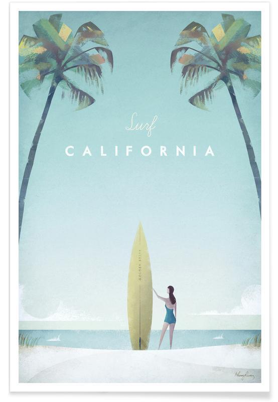 Rejser, Vintage rejser, Vintage California Travel Plakat