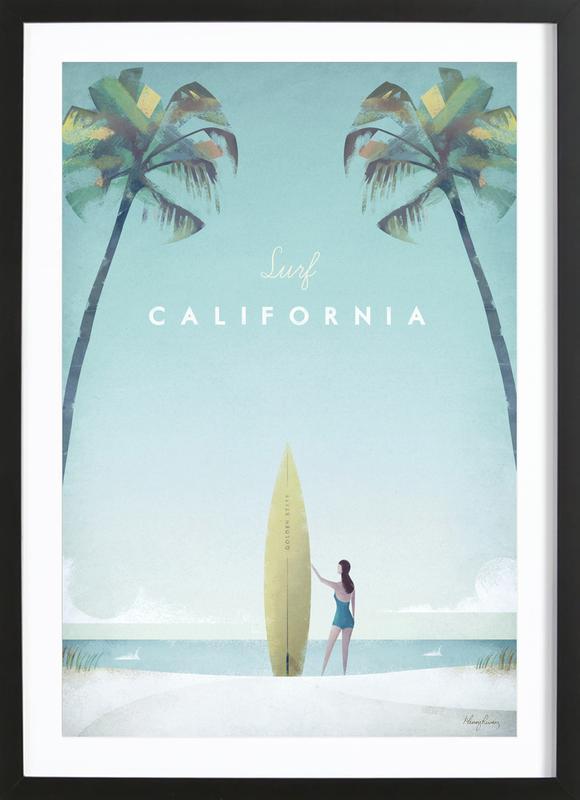 California Poster i träram