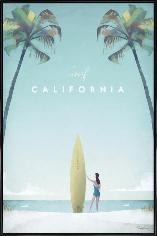 California affiche encadrée