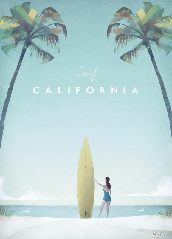 California -Leinwandbild