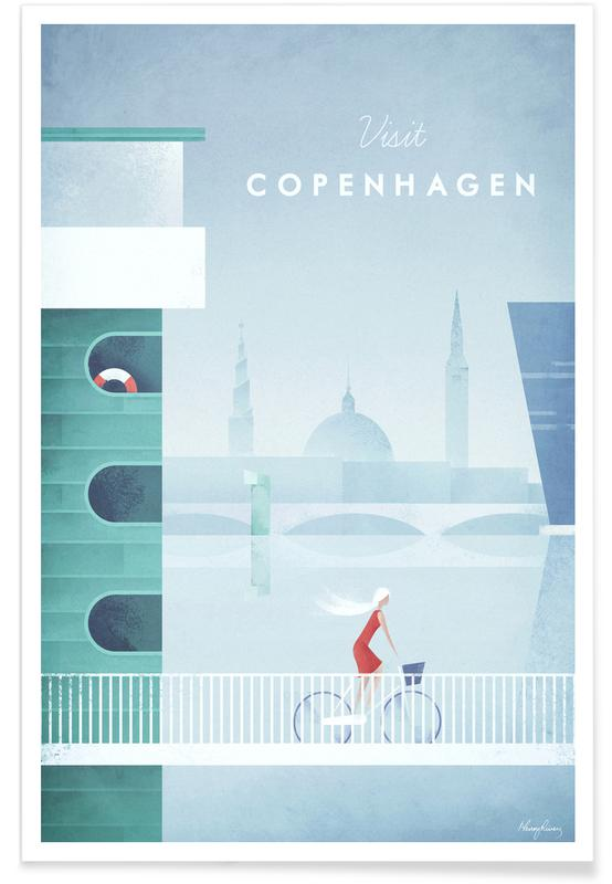 Vintage Reise, Vintage-Kopenhagen-Reise -Poster