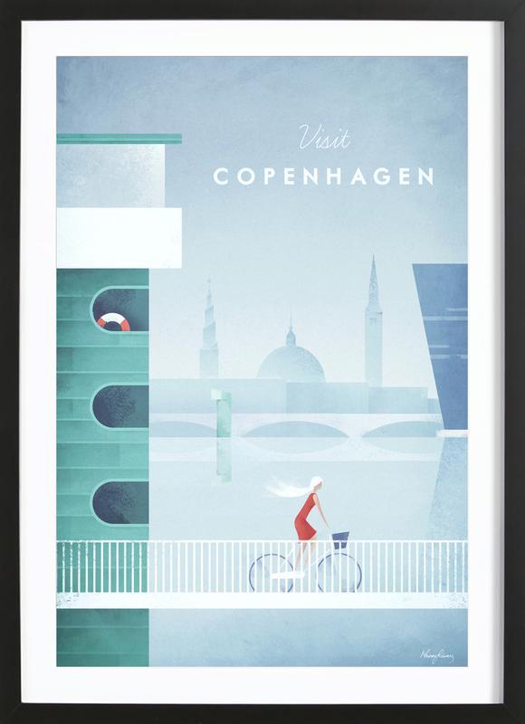 Copenhagen -Bild mit Holzrahmen