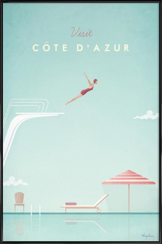 Côte d'Azur ingelijste poster