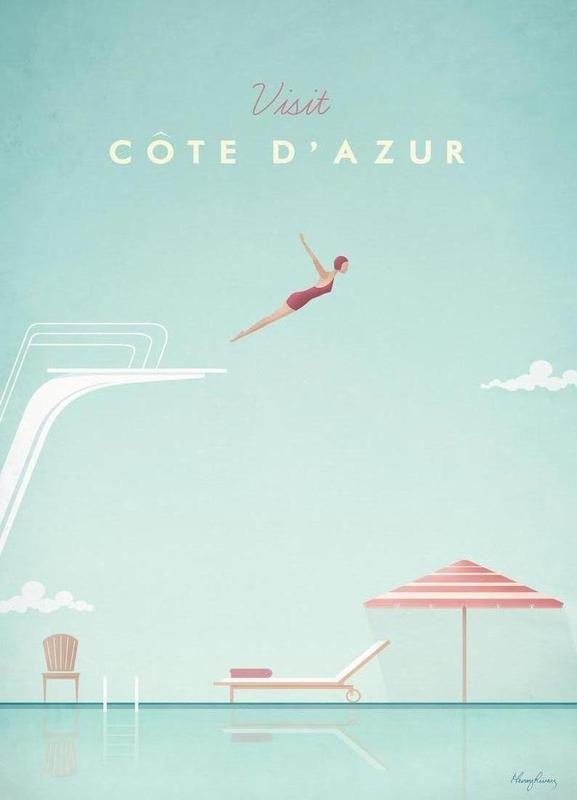 Côte d'Azur canvas doek