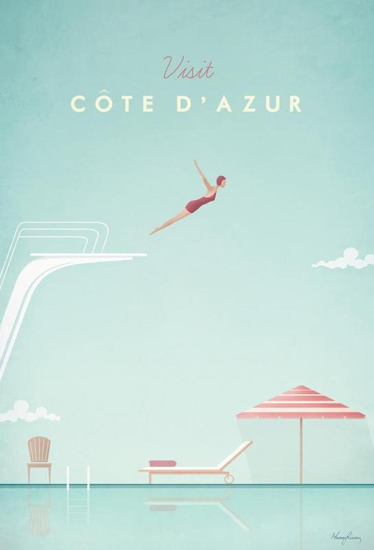 Côte d'Azur acrylglas print