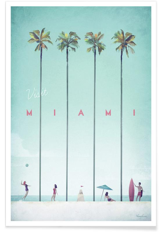 Vintage Miami Travel Plakat