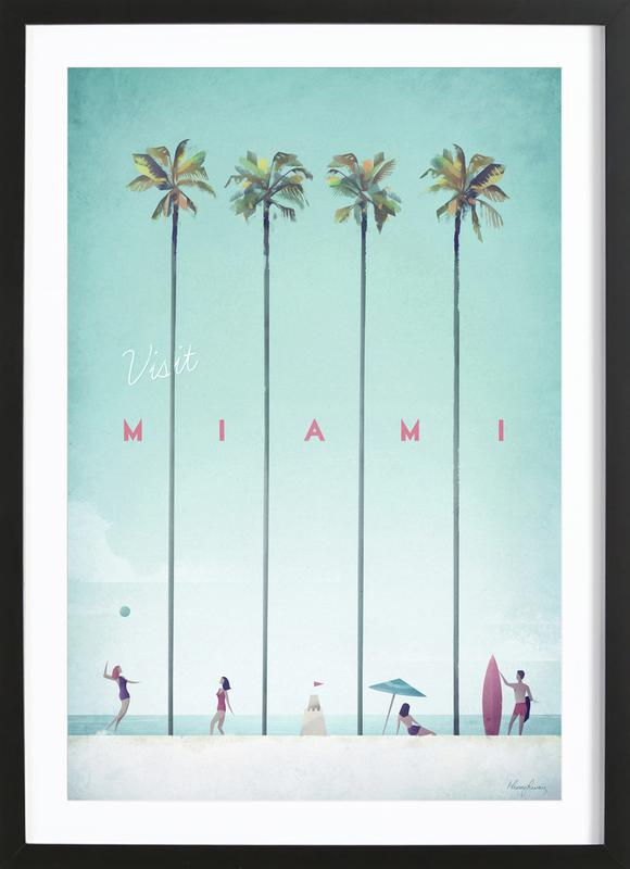 Miami -Bild mit Holzrahmen