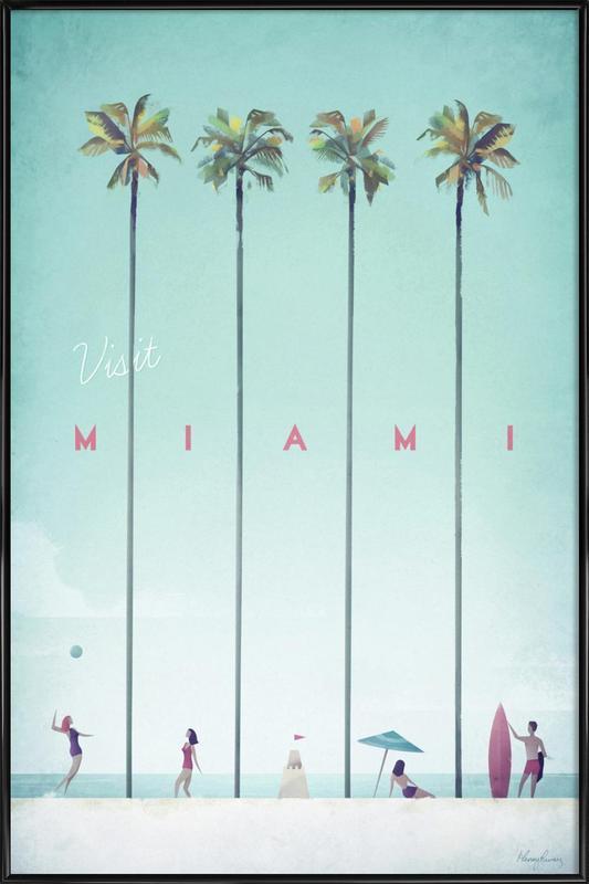 Miami ingelijste poster