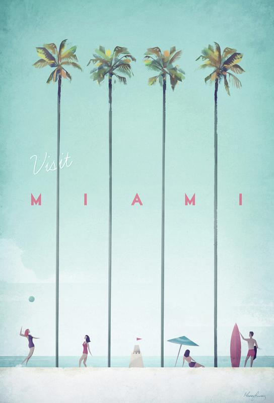 Miami Aluminium Print