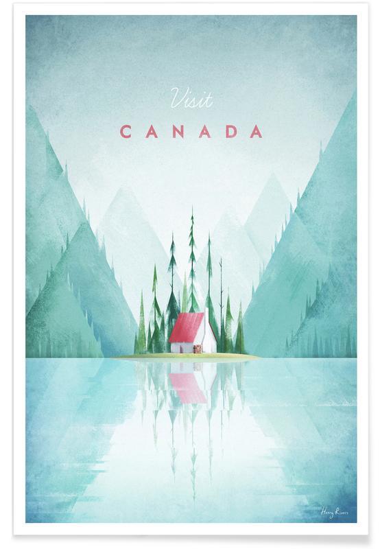 Rejser, Vintage rejser, Vintage Canada Travel Plakat