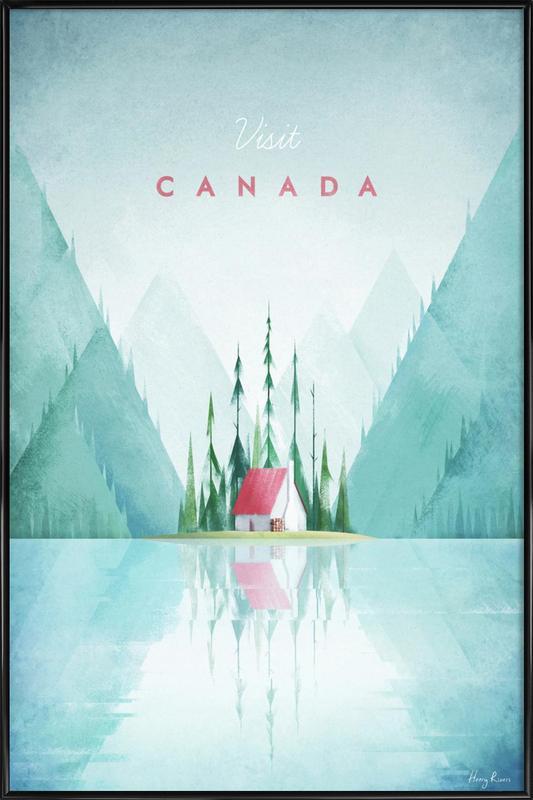 Canada affiche encadrée