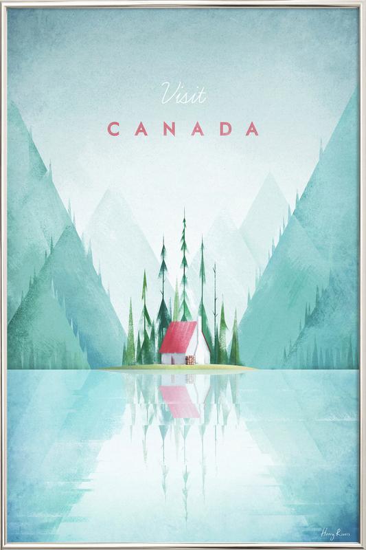 Canada affiche sous cadre en aluminium