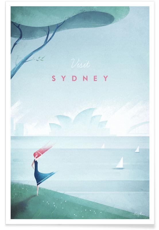 Reizen, Vintage reis, Vintage Sydney - reizen poster