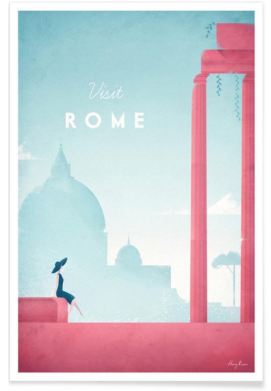 Rom, Vintage rejser, Rejser, Vintage Rome Travel Plakat
