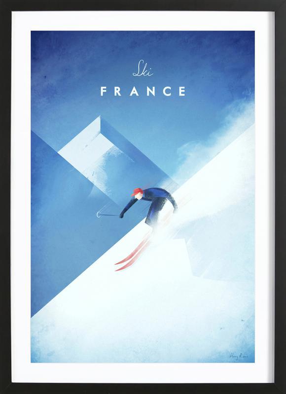 Ski France -Bild mit Holzrahmen