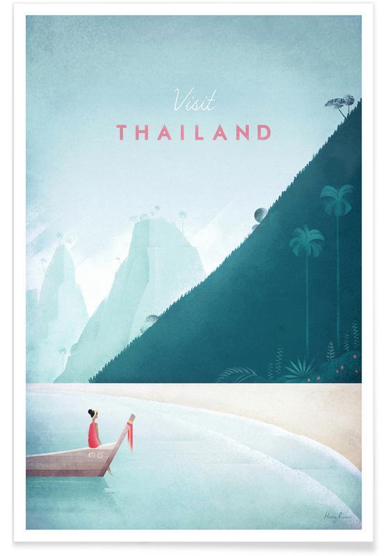 Rejser, Vintage rejser, Vintage Thailand Travel Plakat