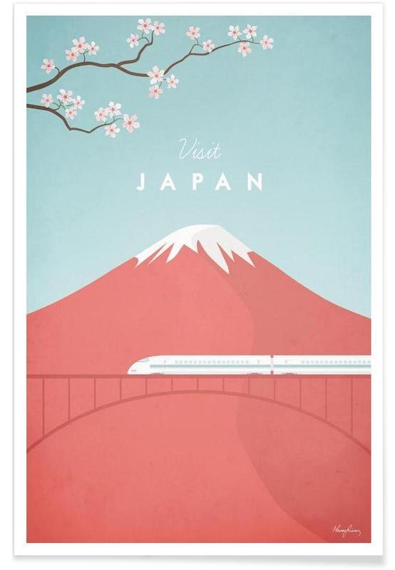 Voyages, Vintage voyage, Japon vintage - Voyage affiche