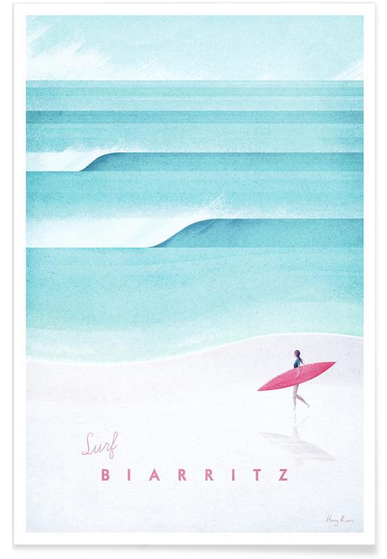 Rejser, Vintage rejser, Vintage Biarritz Travel Plakat