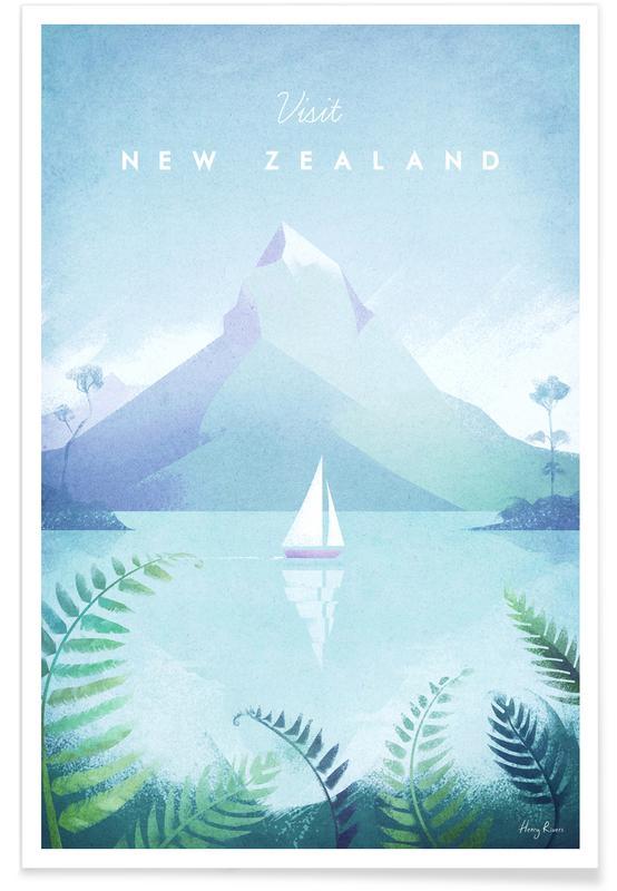 Nouvelle-Zélande vintage - Voyage affiche