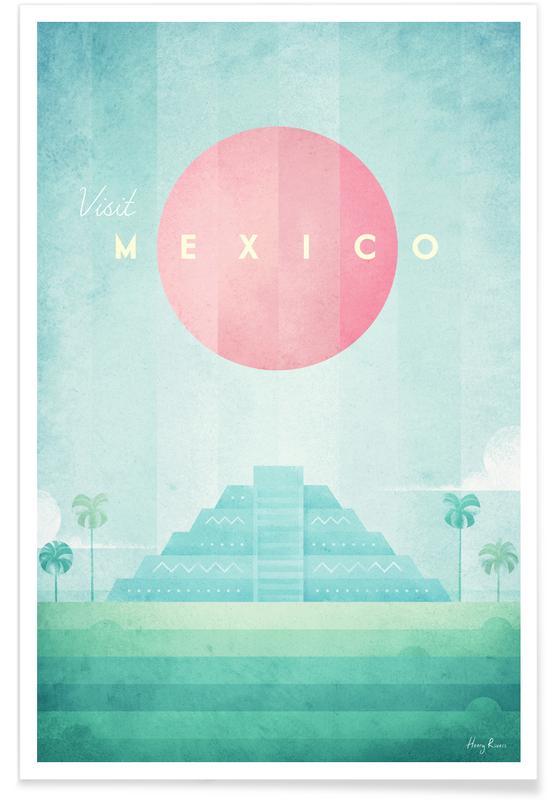 Voyages, Vintage voyage, Mexique vintage - Voyage affiche