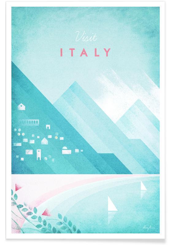 Italie vintage - Voyage affiche