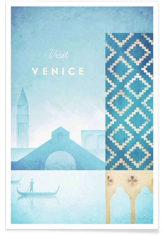 Vintage Reise, Reise, Venedig, Vintage-Venedig-Reise -Poster