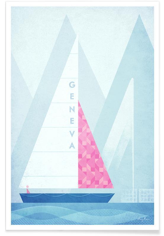 Genève vintage - Voyage affiche