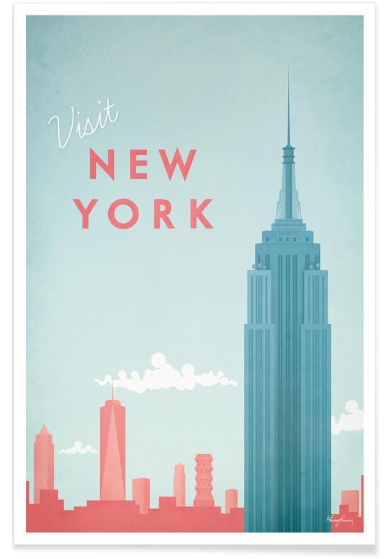 New York vintage - Voyage affiche