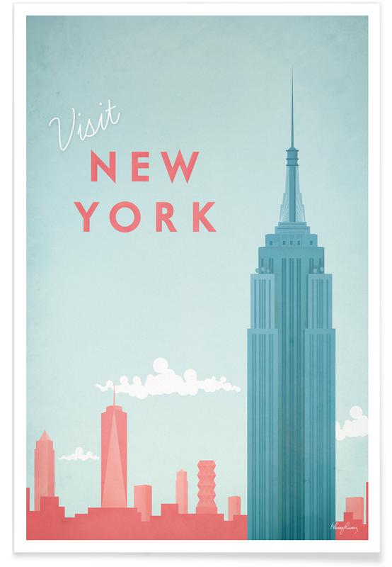 Vintage New York Travel Plakat