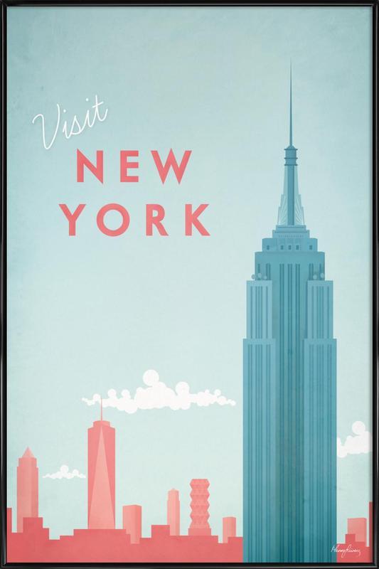 New York affiche encadrée