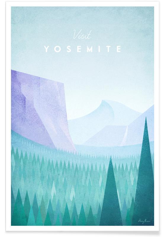 Reise, Vintage Reise, Vintage-Yosemit-Reise -Poster