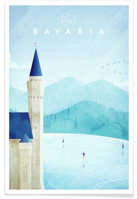 Voyages, Vintage voyage, Bavaria affiche