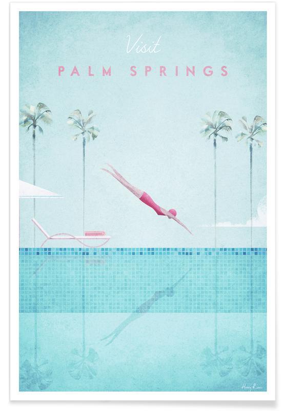 Voyages, Vintage voyage, Palm Springs affiche