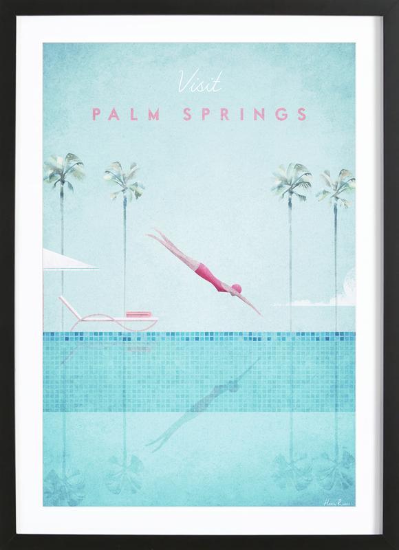 Palm Springs -Bild mit Holzrahmen