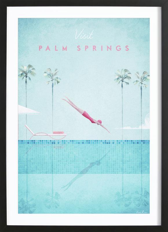 Palm Springs ingelijste print