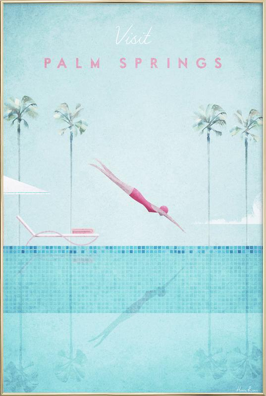 Palm Springs poster in aluminium lijst