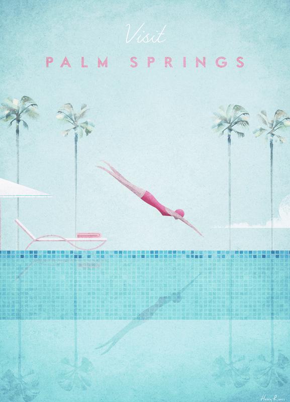 Palm Springs canvas doek