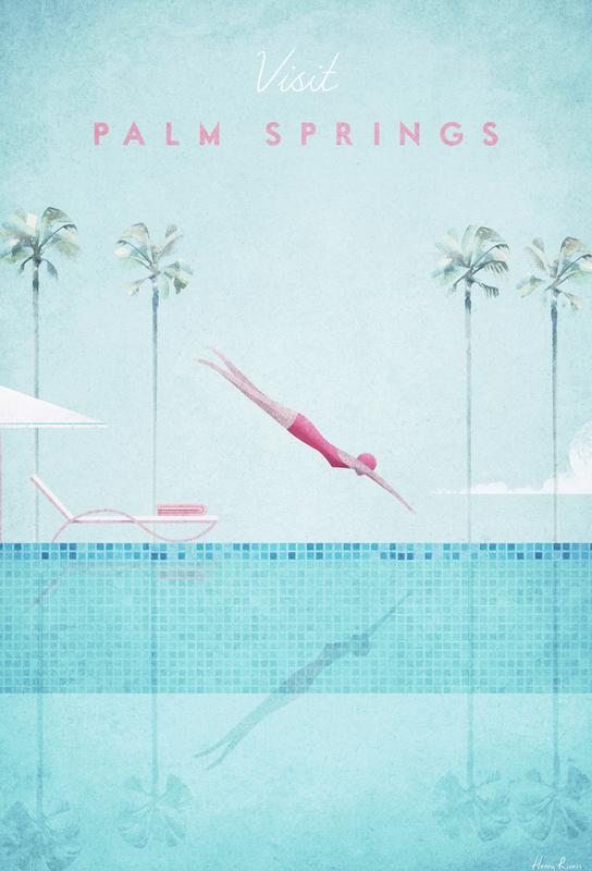 Palm Springs acrylglas print