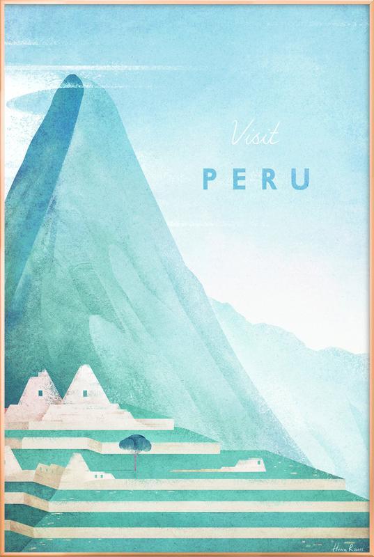 Peru Poster in Aluminium Frame