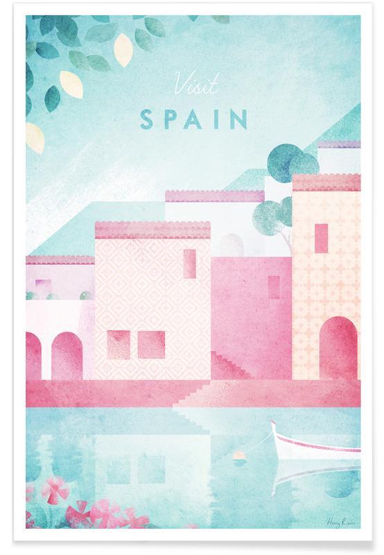 Voyages, Vintage voyage, Vintage voyage en Espagne affiche
