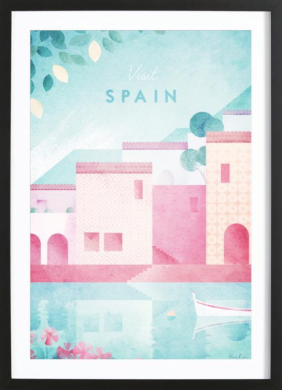 Spain ingelijste print
